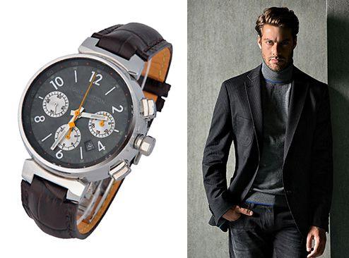 Часы унисекс от Louis Vuitton из сапфировым стеклом