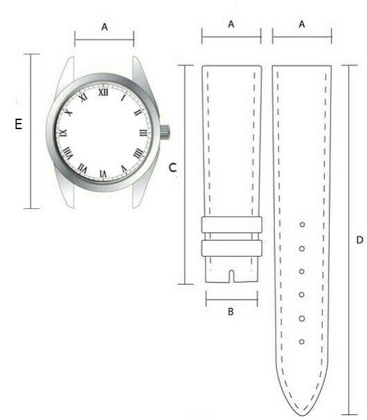 Необходимые параметры ремешка для индивидуального заказа