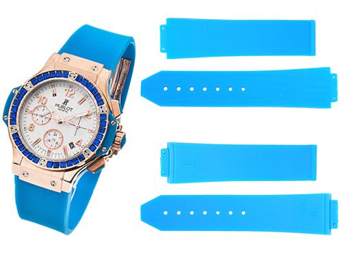 Голубой ремень для часов Hublot