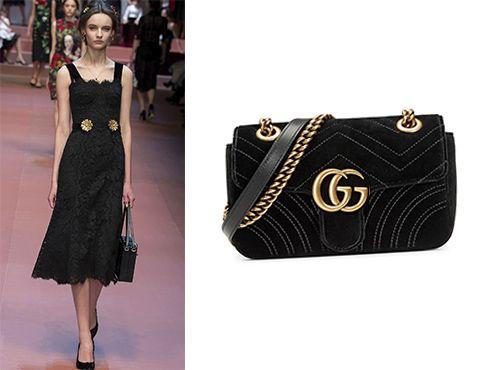 Черная кожаная женская сумка Gucci