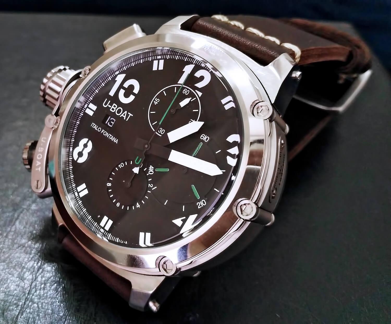 Циферблат реплики мужских часов U-Boat Chimera