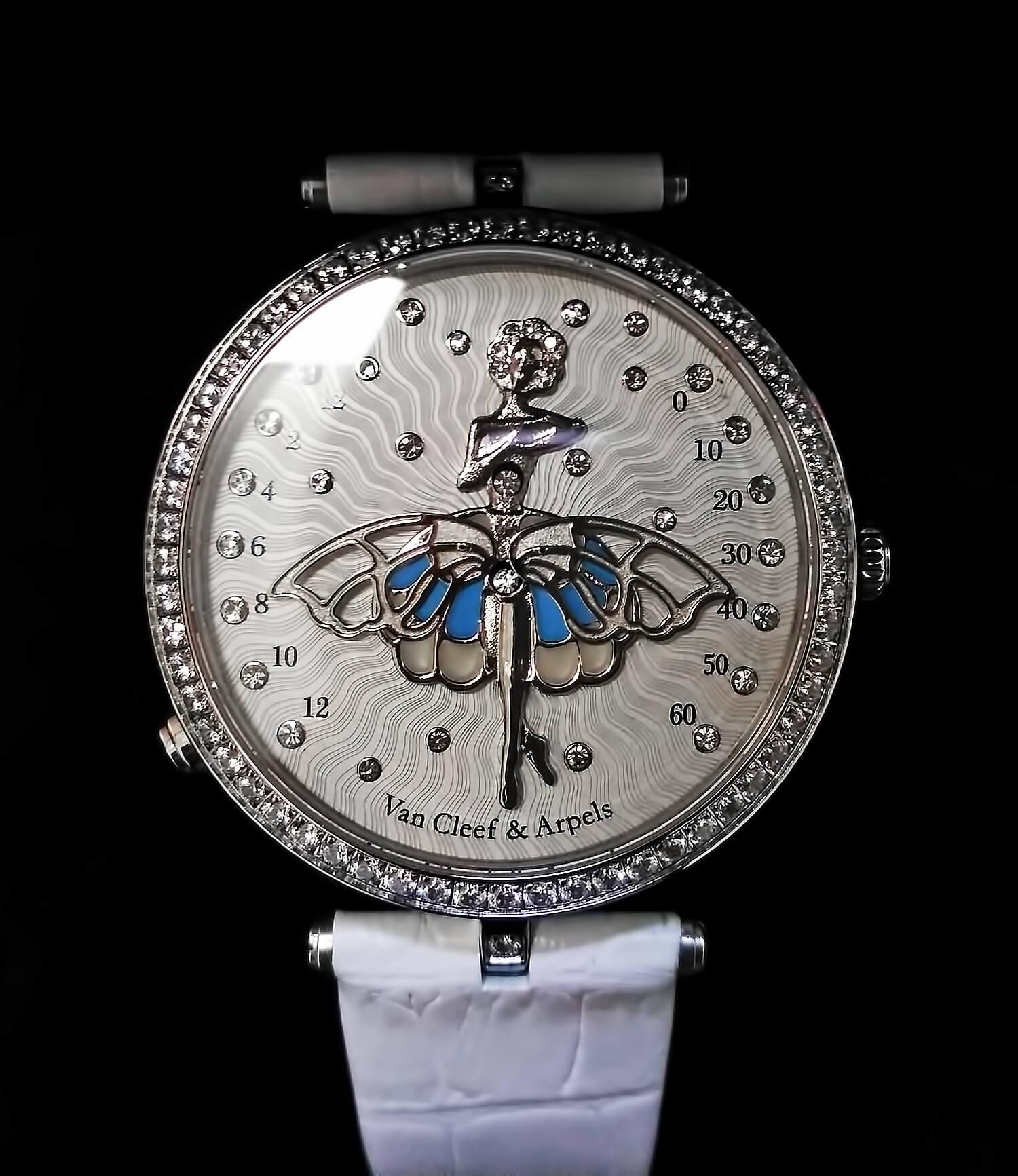 Циферблат реплики женских часов Lady Arpels Ballerine Enchantee