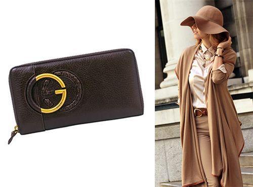 Клатч коричневого цвета от Gucci