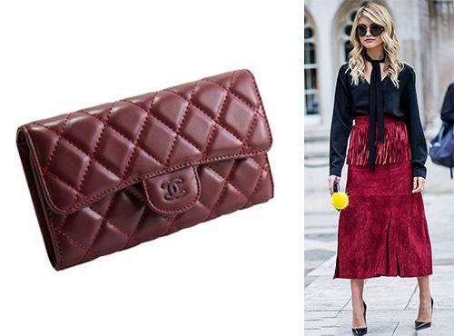 Брендовый клатч красного цвета от Chanel
