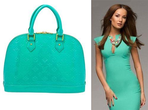 Сумка женская Louis Vuitton зеленого цвета
