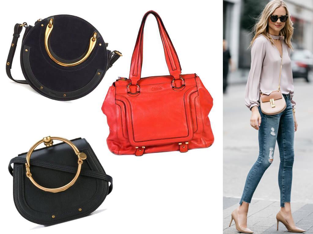 Кожаные сумки Chloe