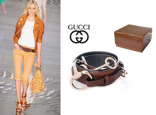 Кожаный пояс от Gucci