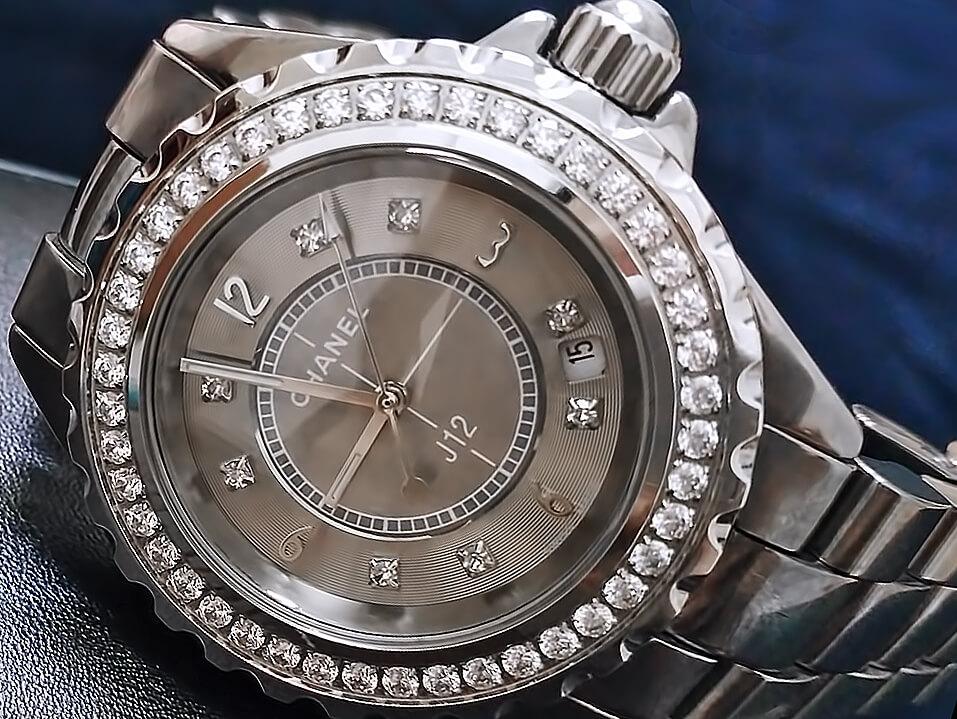 Циферблат женских часов Шанель Джей 12