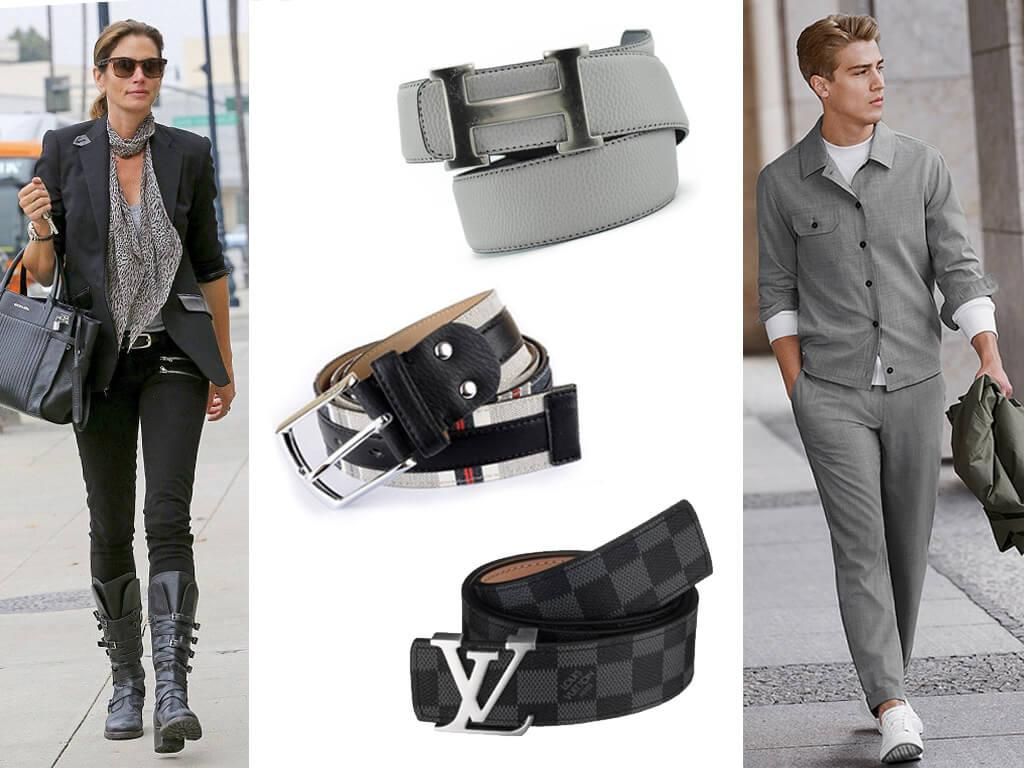 Серый ремень - модный, практичный и всегда элегантный аксессуар