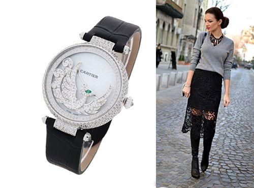 Женские часы Cartier Les Heures Fabuleuses для рыбы