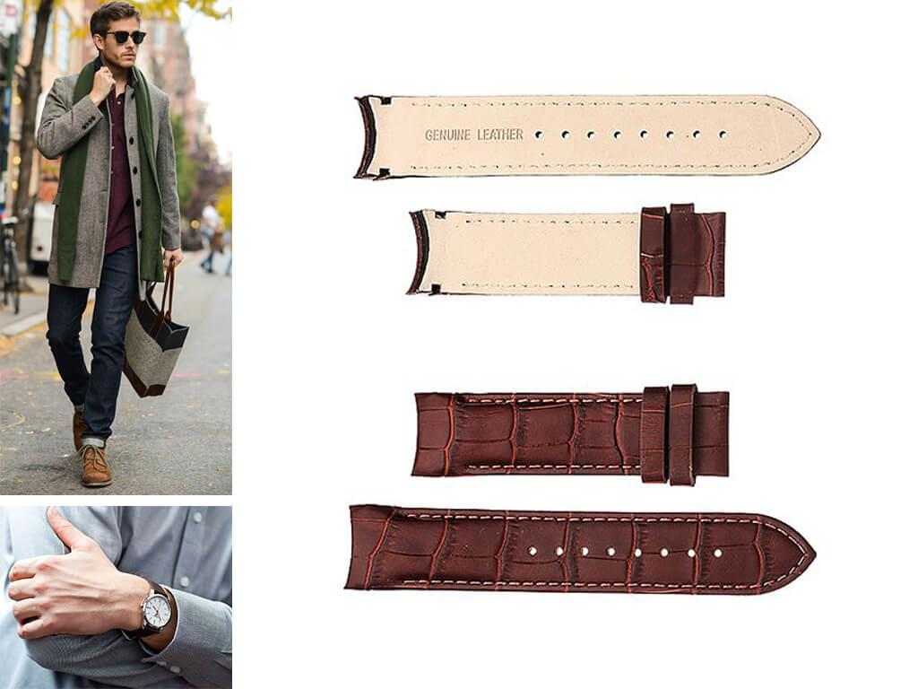 Кожаный ремешок на часы Tissot