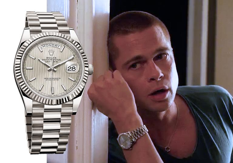 """Кадр из фильма """"Двенадцать друзей Оушена"""" (2004). Rolex Day-Date."""