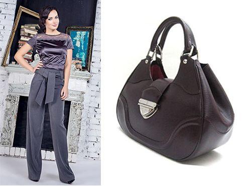 Женская сумка Louis Vuitton темно-фиолетового цвета
