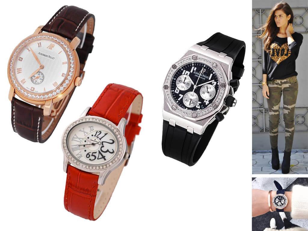 Женские часы Audemars Piguet на ремешке