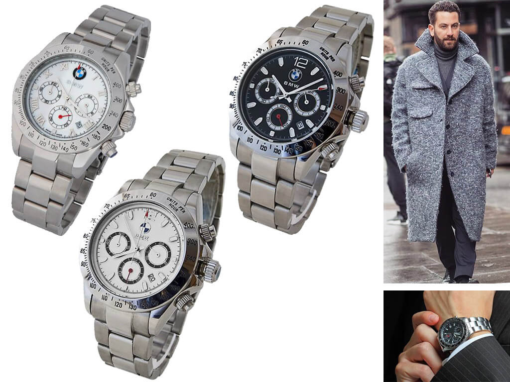 Мужские часы БМВ на браслете