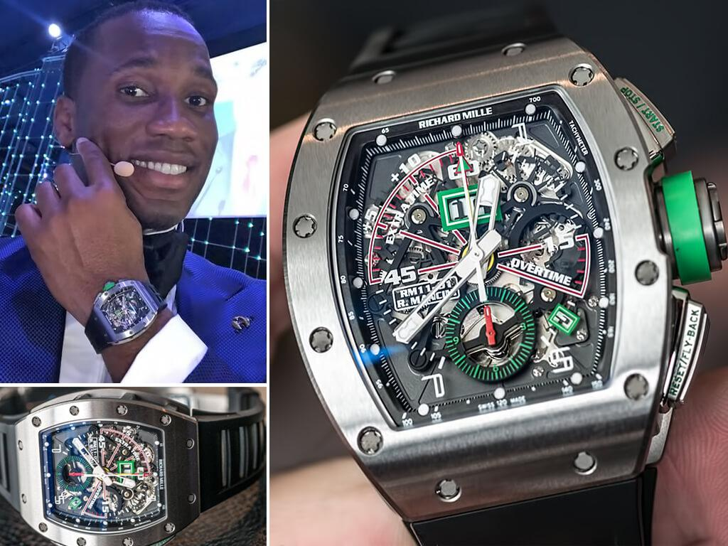 Часы Дидье Дрогба Richard Mille Watches RM 011-01 Roberto Mancini