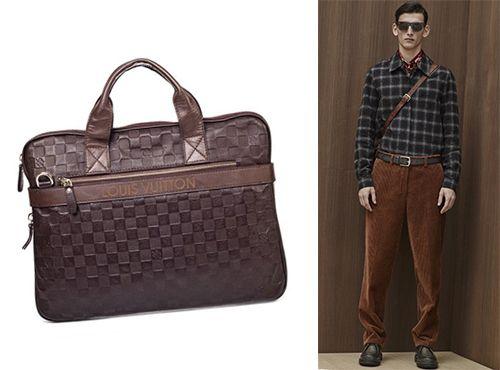 Мужская сумка кожаная Луи Витон