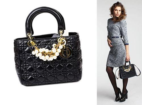 Женская сумка черного цвета Christian Dior