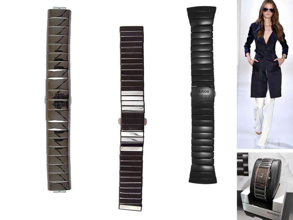 Ремни для часов Rado из керамики