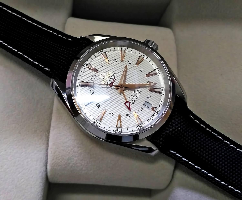 Точная реплика часов OMEGA SEAMASTER AQUA TERRA 150M CO‑AXIAL GMT 43mm