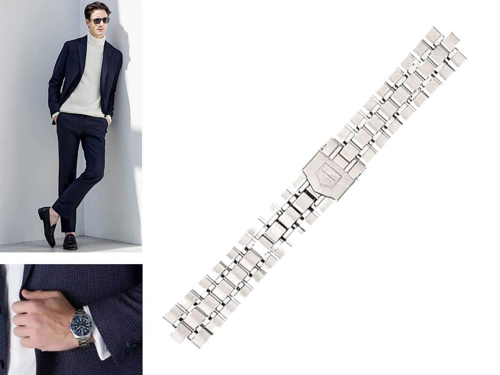 Браслеты для часов Таг Хоер идеально дополняют хронометры бренда, так как выполнены в том же стилистическом