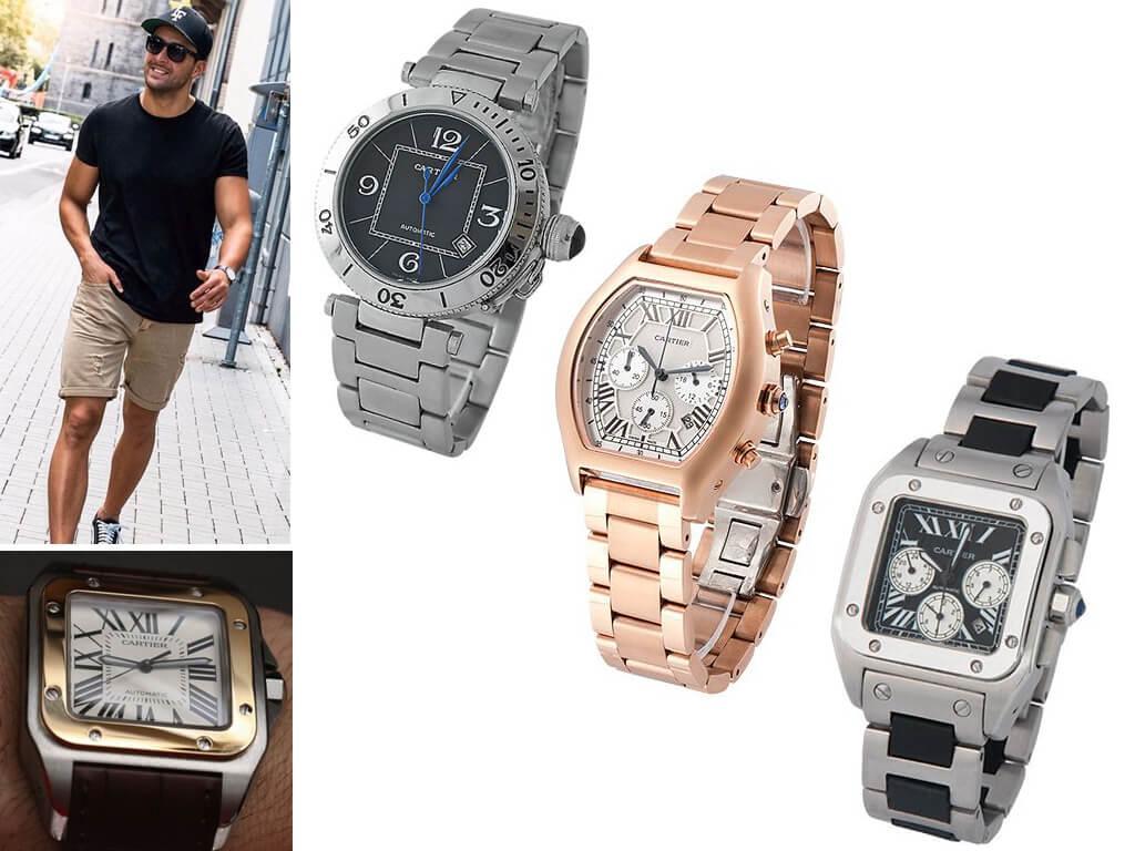 Мужские часы Cartier с браслетом