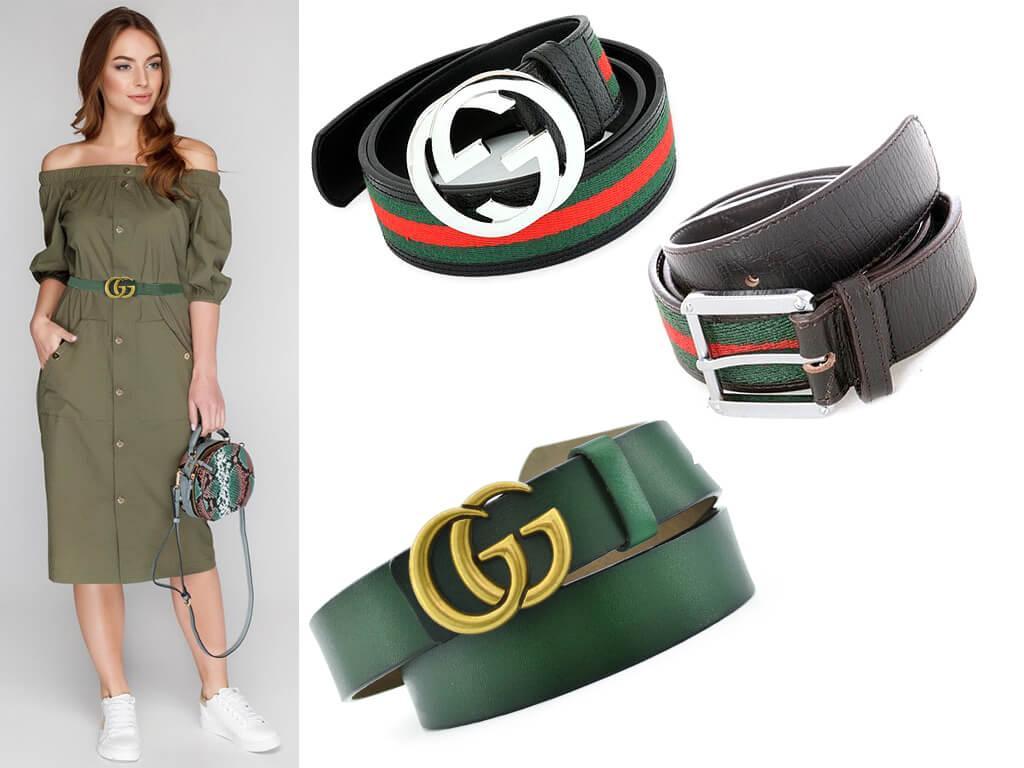 Для создания гармоничного образа ремень зеленого цвета нужно дополнить сумкой в аналогичном или дружественном оттенке