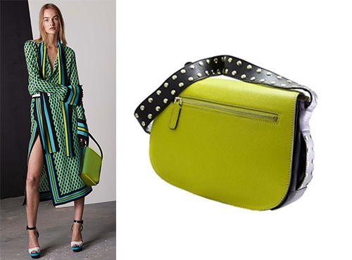 Зеленая женская сумка Marni
