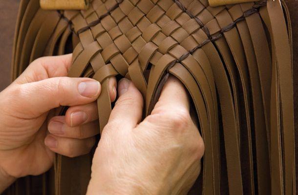 Фирменное плетение Bottega Veneta
