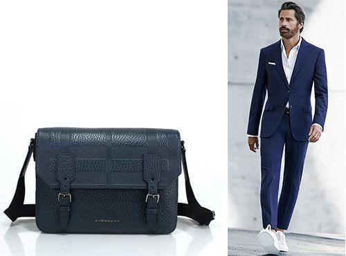 Мужская синяя сумка Burberry