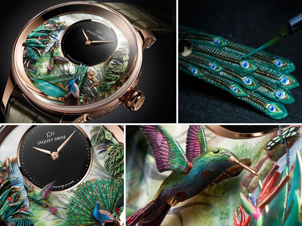 Часы с автоматоном Jaquet Droz Tropical Bird Repeater
