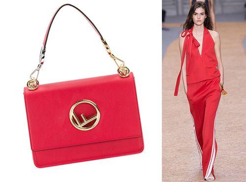 Женска сумка из кожи Фенди