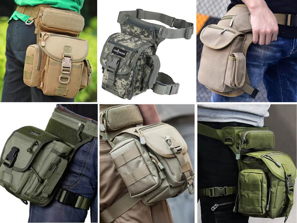 Тактические сумки на бедро для военных, охотников и рыболовов