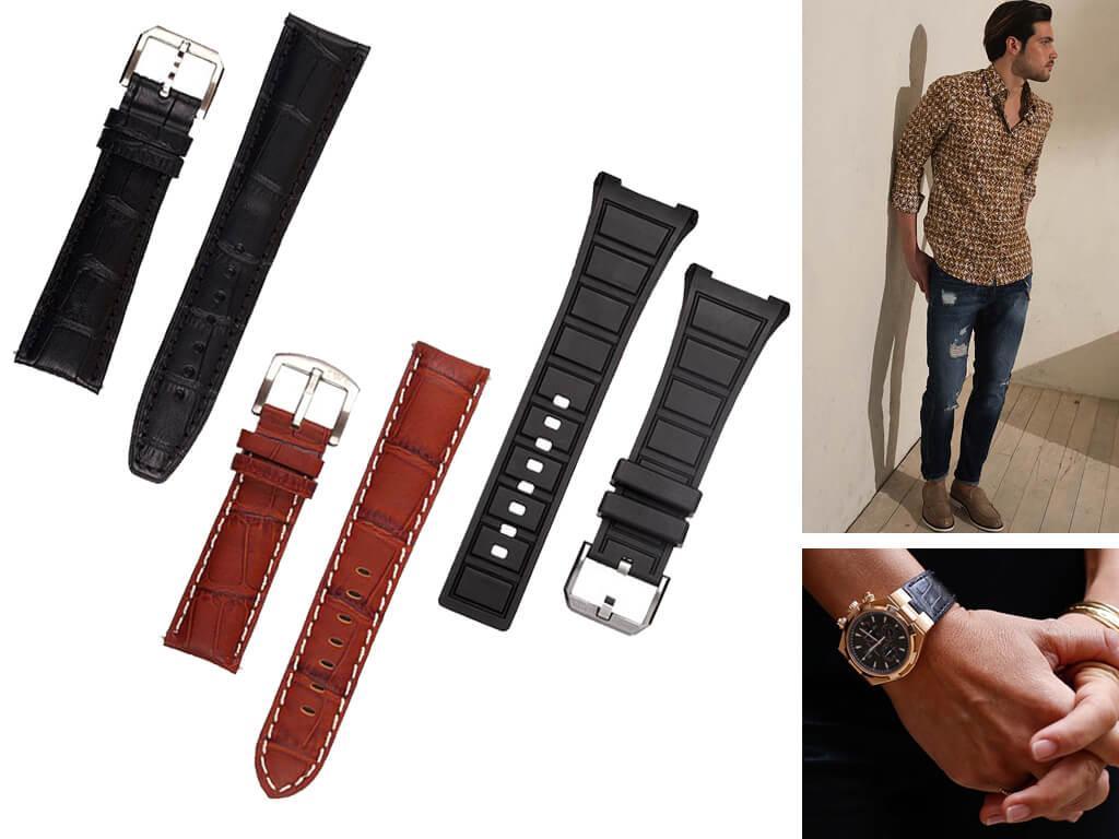Ремешки для часов IWC изготавливаются из натуральной кожи, каучука, прочного текстиля