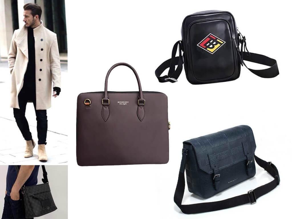 Мужские кожаные сумки Burberry