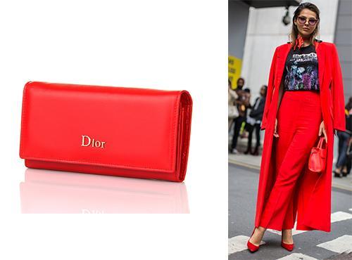 Портмоне из кожи Christian Dior