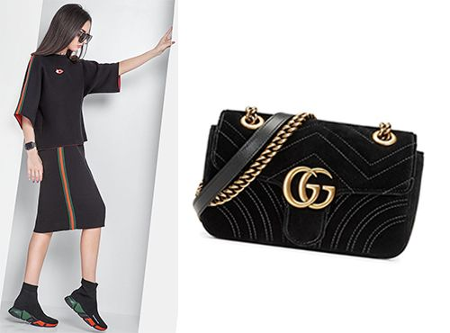 Неординарная дамская сумка Gucci Marmont