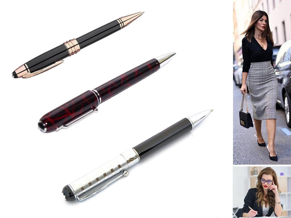 Ручки роллеры черного цвета женские
