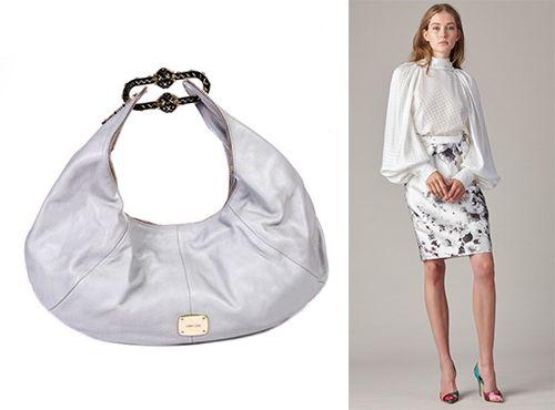 Белая женская сумка Jimmy Choo