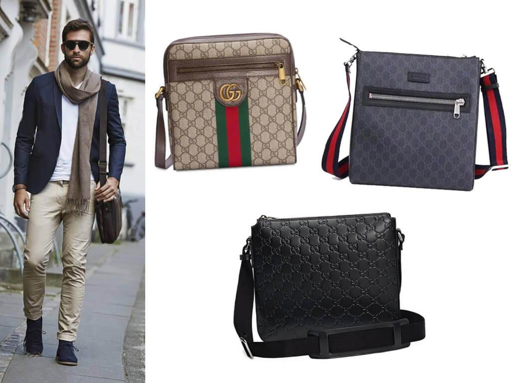 Кожаные сумки Гуччи мужские