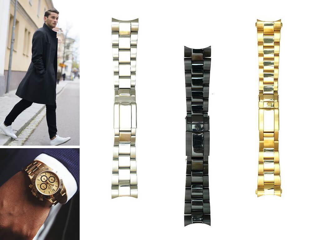Любой браслет Rolex легко адаптируется под нужный размер запястья путем корректировки количества звеньев