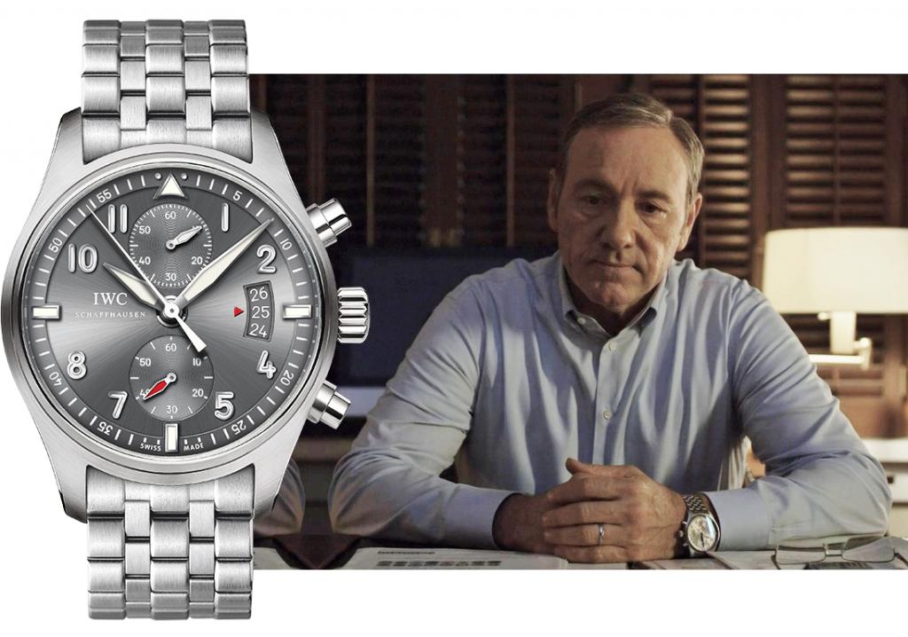 Карточный домик: наручные часы Кевина Спейси IWC Pilot's Watch Chronograph Spitfire Chrono 3878