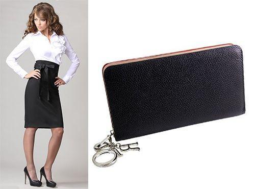 Стильный черный клатч от Christian Dior