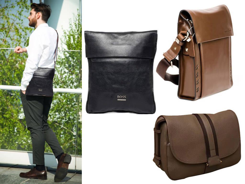 Мужские сумки через плечо с клапаном