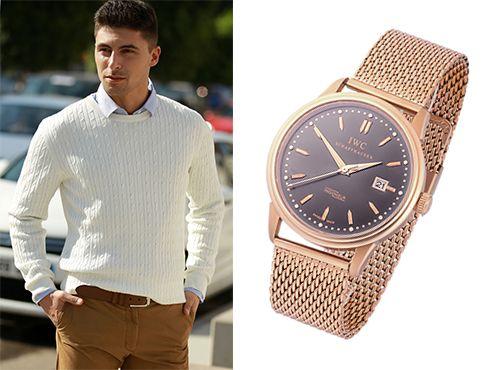 Часы мужские Iwc с золотистым браслетом