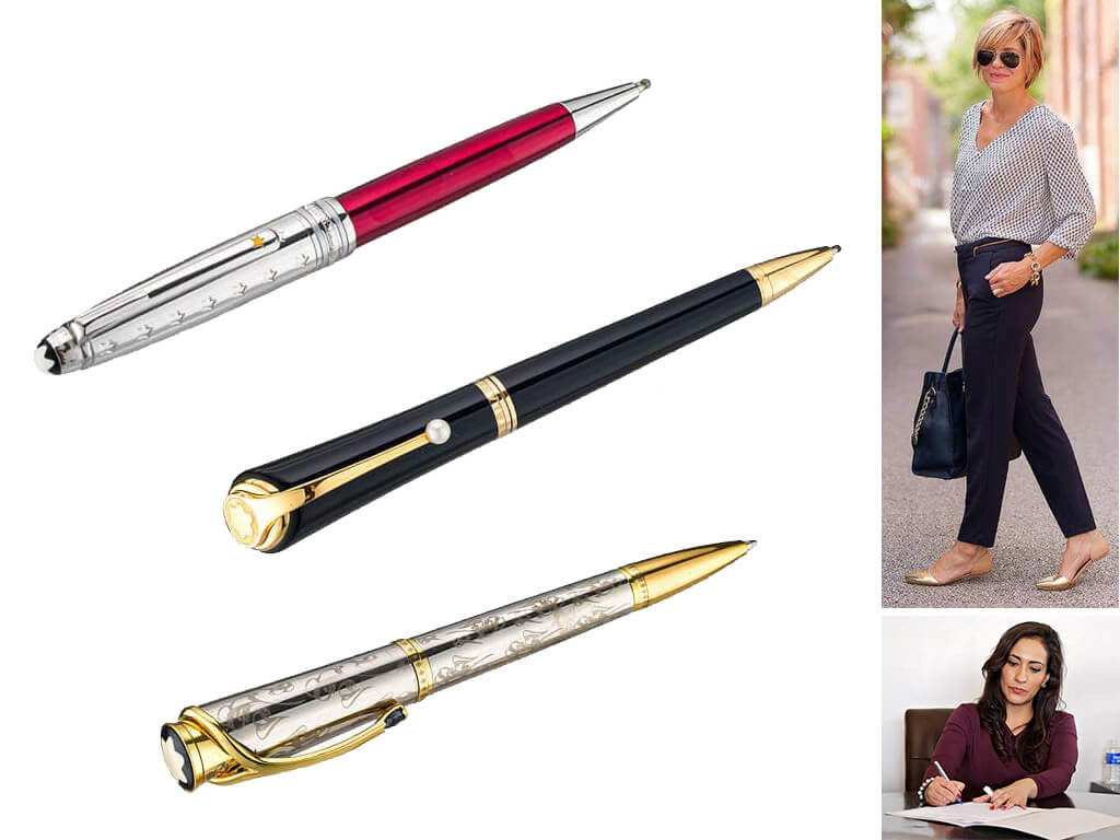 Подарочные ручки в футляре для женщин и девушек