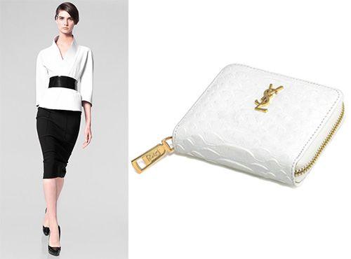 Женское портмоне из кожи Yves Saint Laurent