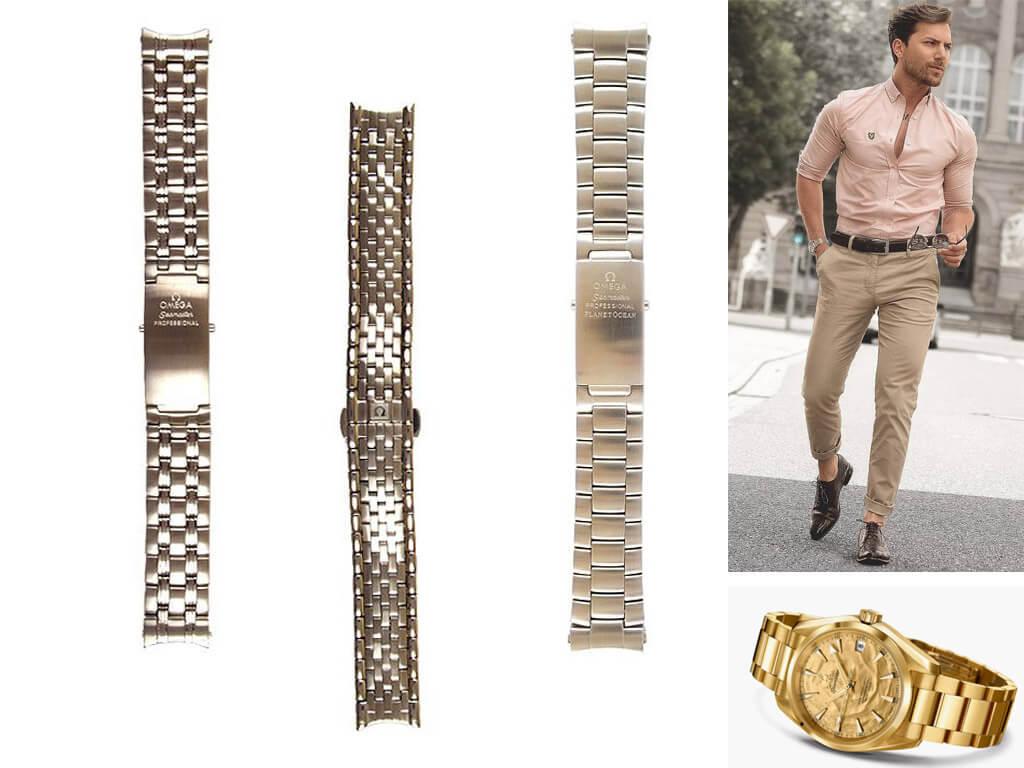 Стальные браслеты для часов Омега