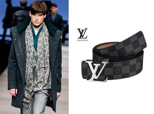 Мужской пояс из кожи Louis Vuitton