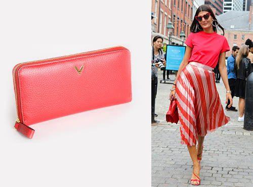 Женский кожаный кошелек Valentino